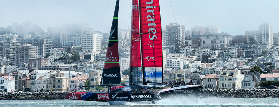 Emirates team New Zealand Yacht
