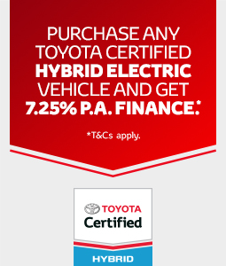 Toyota Certified Hybrid Electric Offer