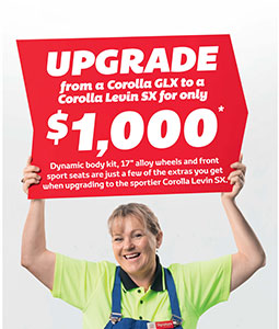 Signature Class Corolla Upgrade Offer