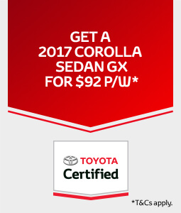 Toyota Certified Corolla Offer